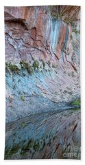 Beach Sheet featuring the photograph Reflections In Oak Creek Canyon by Sandra Bronstein