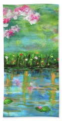 Reflections Of Spring Beach Towel