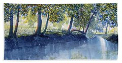 Ripples And Reflections Beach Towel