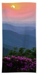 Roan Mountain Sunset Beach Towel