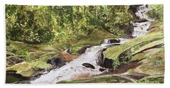 Roaring Fork Falls -- June 2017 Beach Towel