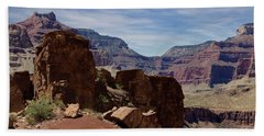 Rock Formations In The Grand Canyon  Beach Towel