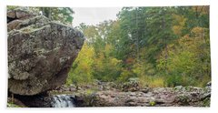 Rocky Creek Shut-ins Beach Sheet by Julie Clements