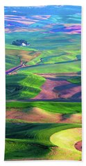 Green Hills Of The Palouse Beach Towel by James Hammond