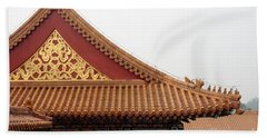 Roof Forbidden City Beijing China Beach Towel