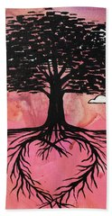 Beach Towel featuring the painting Rooted In Love by Nathan Rhoads