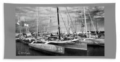 Beach Towel featuring the photograph Route Du Rhum Ready by Elf Evans