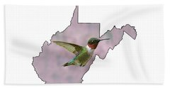 Ruby-throated Hummingbird  Beautiful Coloring Beach Sheet