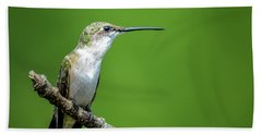 Ruby-throated Hummingbird Beach Towel