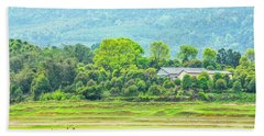 Rural Scenery In Spring Beach Sheet