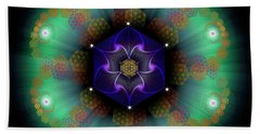 Sacred Geometry 638 Beach Sheet by Endre Balogh