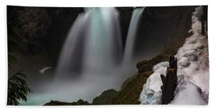 Beach Towel featuring the photograph Sahalie Falls by Cat Connor