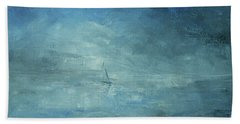 Beach Towel featuring the painting Sail Away by Jane See