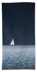 Sailboat Beach Towel by Chevy Fleet