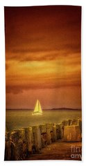 Sailing  ... Beach Sheet by Chuck Caramella