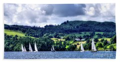 Sailing Lake Windermere Beach Towel