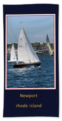 Beach Towel featuring the photograph Sailing Newport by Tom Prendergast