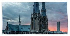 Saint Catherina Church In Eindhoven Beach Towel by Semmick Photo