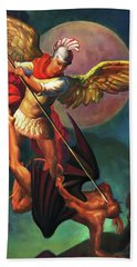Saint Michael The Warrior Archangel Beach Towel