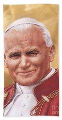 Saint Pope John Paul II Beach Towel