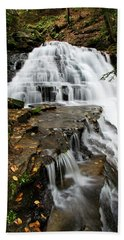 Beach Towel featuring the photograph Salt Springs Waterfall by Christina Rollo