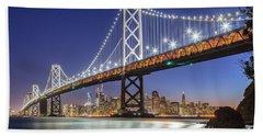 San Francisco City Lights Beach Sheet by JR Photography