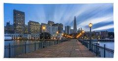 San Francisco Beach Towel by Evgeny Vasenev