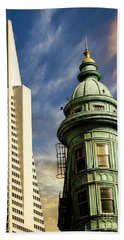 San Francisco Then And Now Beach Towel