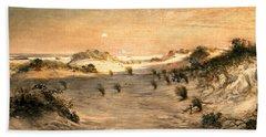 Sand Dunes At Sunset, Atlantic City Beach Sheet