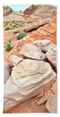 Beach Towel featuring the photograph Sandstone Cove In Valley Of Fire by Ray Mathis
