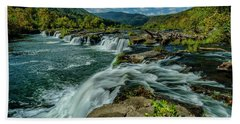 Sandstone Falls New River Beach Towel