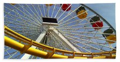 Santa Monica Pier Amusement Park Beach Towel