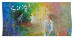 Sarayu Beach Sheet by Janet McGrath