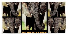 Save  Our  Endangered  Elephants Beach Towel