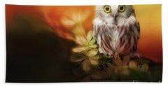 Saw-whet Owl Beach Towel