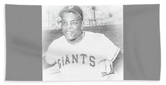 Willie Mays Beach Towel