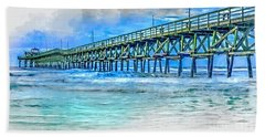 Sea Blue - Cherry Grove Pier Beach Towel