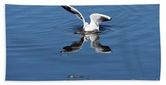 Seagull Fishing Beach Towel