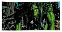 She-hulk Beach Towel
