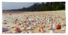 She Sells Sea Shells At The Sea Shore Seaweed And Sea Shells Beaches Of Zanzibar Tanzania Beach Sheet