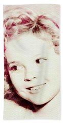 Shirley Temple, Vintage Actress Beach Towel