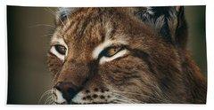 Siberian Lynx Beach Towel