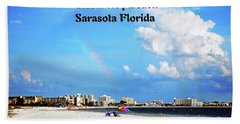 Beach Towel featuring the photograph Siesta Beach by Gary Wonning