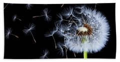 Silhouettes Of Dandelions Beach Towel