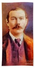 Sir Arthur Conan Doyle, Literary Legend Beach Towel