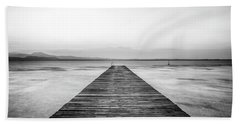 Beach Towel featuring the photograph Sirmione by Traven Milovich