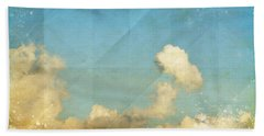Sky And Cloud On Old Grunge Paper Beach Towel