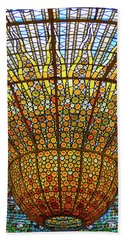 Skylight In Palace Of Catalan Music  Beach Towel