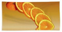 Slices Orange Citrus Fruit Beach Towel by David French
