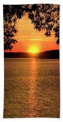 Smith Mountain Lake Silhouette Sunset Beach Towel